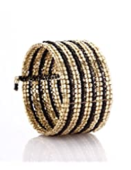 Black & Gold Cuffling Bracelet
