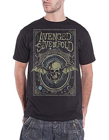 Avenged Sevenfold T Shirt Ornate Death Bat Logo Nue offiziell Herren Schwarz