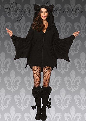 lich gemütliche schwarze Fledermaus Kostüm XL (UK 14-16) (Gemütliche Fledermaus Kostüme)