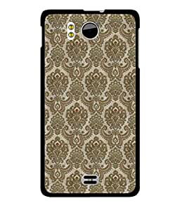 MiiCreations UV/2D Printed Back Cover for Micromax Canvas DOODLE A111 - Mughal Print Pattern