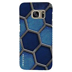 iSweven Blue Peaks design printed matte finish back case cover for Samsung Galaxy S7