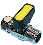 0,95 cm x 10 mm Mini palanca insertar como válvula de bola de Gas