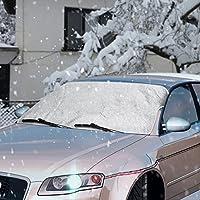 Scheibenabdeckung, Topist Frontscheibe Abdeckung Auto Frostschutz, Windschutzscheiben Abdeckung Autoabdeckung Winterabdeckung + Sommer Sonnenschutz Auto für Standard Auto mit Eiskratzer 59*46.5inch