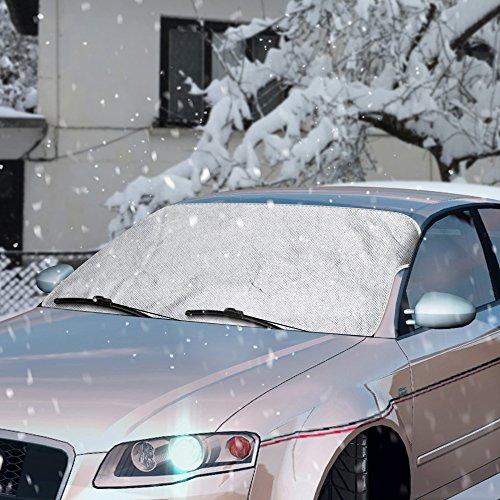 Scheibenabdeckung,Topist Frontscheibe Abdeckung Frontscheibenabdeckung Auto Frostschutz,Windschutzscheiben Abdeckung Autoabdeckung Winterabdeckung für Standard Auto mit Eiskratzer - 59*46.5inch