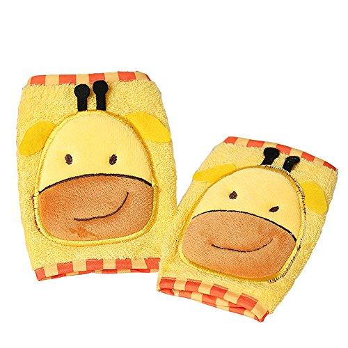 oamore Ginocchiere per neonati per Protezione Ginocchio Antiscivolo Gattonare per Bambino (giraffa)
