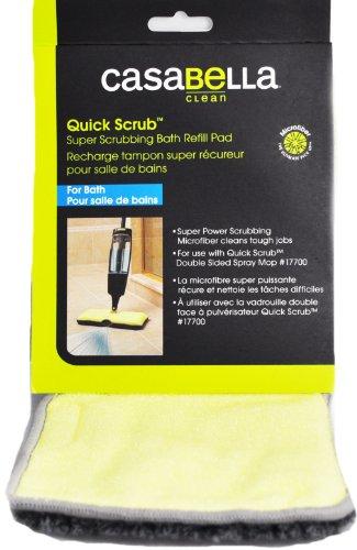 Casabella Bad Refill für schnelle Scrub doppelseitig Mikrofaser Spray Mop für 57-17700 Casabella Mop Refill