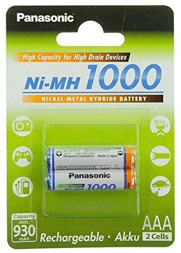 2x Panasonic AAA Akku 1000 Ni-MH Micro 1,2V DECT Telefone Philips CD650 CD655...