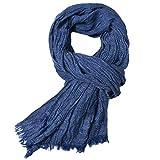Westeng Cálido Bufanda Hombre Invierno Bufandas de Moda Modernas Fular de Hombre size 200 * 80 cm (Azul marino)