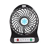 TiooDre Mini USB Fan Portable Small Desk Pocket Handheld Air Rechargeable Fan with Flashlight