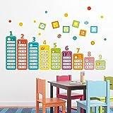 Niños de dibujos animados 99 tabla de multiplicar juguetes matemáticos pegatinas de pared habitación infantil educación infantil aprendizaje calcomanías murales Montessori