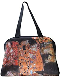 Raanpahmuang Work Of Art Travel Bag - Klimt The Kiss Collage By Raan Pah Muang