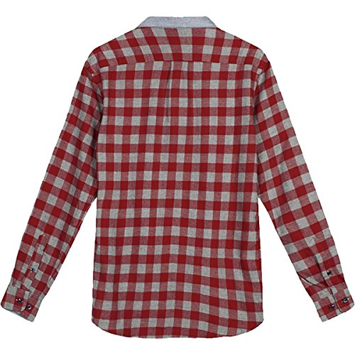 WeSC Herren Slim Fit für Maas L/S SHIRT rot - Lava Red