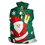 eBuyGB GIANT Vater Weihnachten Santa Sack, Polyester, Grün, 32.21X 27,41X 5cm