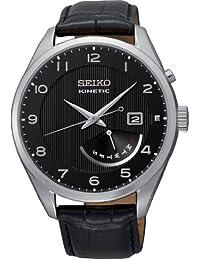Seiko Herren-Armbanduhr XL Analog Automatik Leder SRN051P1