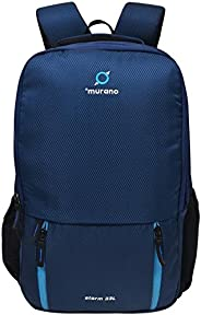 Murano Storm 33 LTR Casual Backpack for Men Women with 3 Compartment and Polyester Water Resistance Backpack- Navy Blue