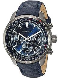 62d96d77f378 Amazon.es  Nautica - Piel   Relojes de pulsera   Hombre  Relojes