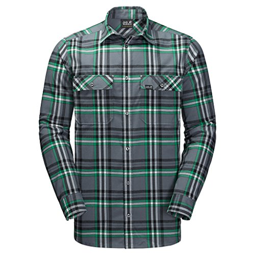 Preisvergleich Produktbild JACK WOLFSKIN Herren Hemd VALLEY SHIRT MEN, ebony checks, XXL, 1402111-7063006