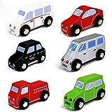 Fahrzeuge Kinder Auto Set LKW Model Holzspielzeug Weihnachten Geschenk Pädagogisches Spielzeug ab 3 4 5 6 Jahren