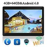 10 Pulgadas Tablet PC Android 6.0 4 GB de RAM 64GB ROM Octa Core 8 núcleos de Doble Cámaras 5.0MP 1280 * 800 IPS (Black)
