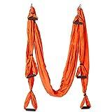 Lemonda Yoga Flying Balançoire Anti-gravité Yoga Hamac La Musculation Aptitude Équipement (Orange)