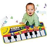 Alfombras de patron de piano - YIQU alfombra de estera de arrastre de de patron de piano musica de juego juguetes educativos para ninos