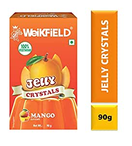 Weikfield Jelly Crystals, Mango, 90g Carton