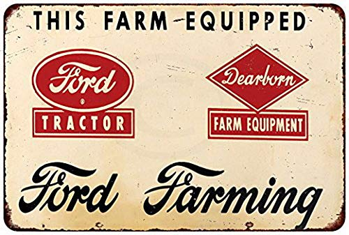 Harvesthouse Ford Dearborn Farming Tractor Garage Shop Reproduction Metal Sign 8 x 12 by
