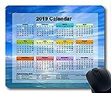 Calendrier 2019 avec Blocs-Notes Importants pour Les Vacances, Tapis de Souris, Ciel étoilé Tapis de Souris Gaming