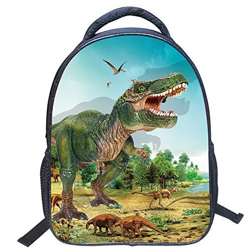 Artone Nylon Cielo Jurásico Dinosaurio Acolchado Mochila Montar Ipad