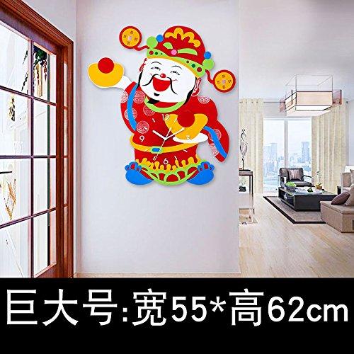 Y-Hui Quartz Mute Salon Horloge Horloge murale Horloge Horloges Art Déco de table, de 20 pouces (50,5 cm) de diamètre, le très grand nombre : 55*62cm