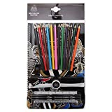 Newcastle United FC Official Football Crest Ultimate Stationery Set (One Size) (Black/White)