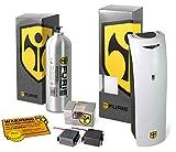 FURIE Reizgas Sprühsystem X-750 im Set mit CS-Kartusche & Batteriepacks zur Einbruchsicherung, Hausabsicherung, Wohnwagensicherung