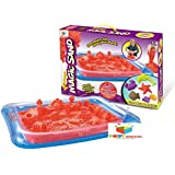 Toys Bhoomi Plastic 100% Safe Gluten-Free Magic Sand Activity Playset with Inflatable Sandbox and Molds 2Kg (Multicolour, 882-3A3)