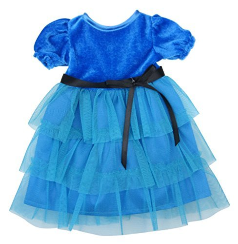 Elegante Blaue Kleid Puppe Kleidung for 16 Zoll Hohe Simulations-Baby