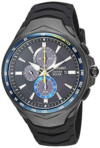 Seiko SSC697 Coutura - Reloj de Pulsera para Hombre, diseño de cronógrafo, Color Negro