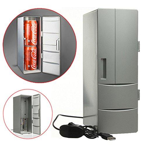 LY-Mini Fridge Mini PC USB Kühler & Wärmer Auto Kühlschrank, Portable USB Bier Getränke Getränkedosen Kühlschrank Dosen Kühler Wärmer Für Kalt/Heißgetränk Getränke