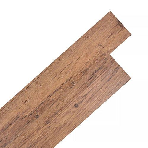 Festnight 36 Stk. PVC Laminat Dielen Selbstklebend PVC Bodenbelag 5,02 M²  Rutschfest Fußbodenbelag Für Küche, Bad, Flur Oder Wohnzimmer
