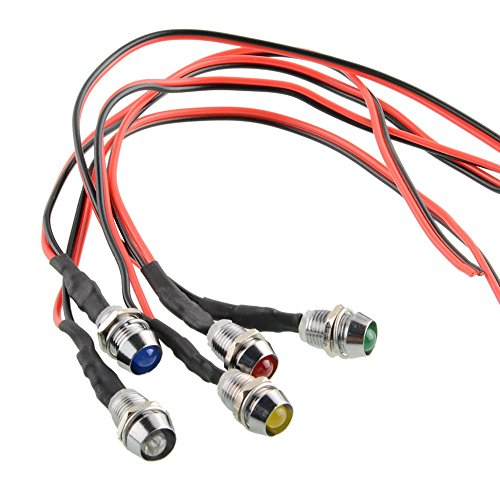 Preisvergleich Produktbild Sedeta LED-Kontrollleuchte Pilot Dash Directional Auto LKW Boot Blau rot grün gelb weiß 5pcs / set Auto LED-Kontrollleuchte Für Autofahrzeug Motorradboot LKW Boot