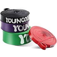 Youngdo Fitnessbänder, Widerstandsband Set zur Bodybuilding, Gewichtsabnahme, Krafttraining, 4 Stärken und 5 Farben und mit Tasche