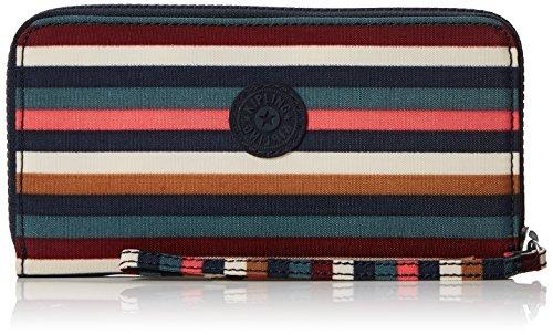 Kipling Damen Alia Geldbörse, Mehrfarbig (Multi Stripes), 2x19x10 cm -