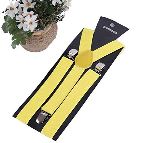 Zerama Elastic Y-Form Hosenträger der Frauen Männer Mädchen Einstellbare Clip-on Strapse Straps