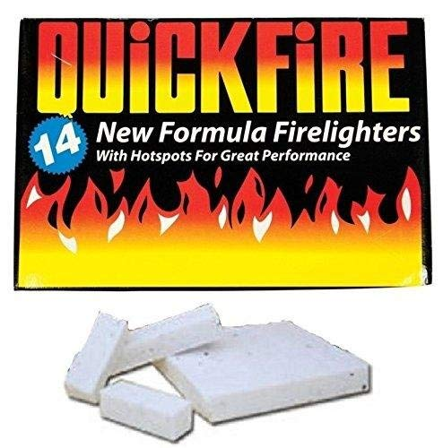 Quickfire Fire Lighters Firelighters Bulk Pack Hotspots Burners BBQ COAL LIGHTERS WOOD BURNERS