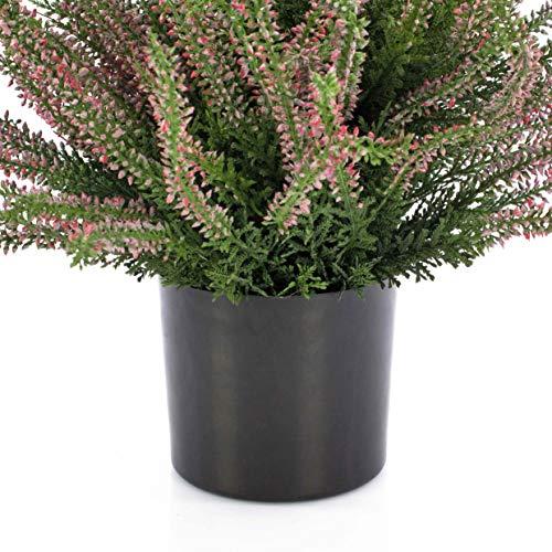 artplants Set 6 x Künstliche Erika Elani, rosa, 35 cm, Ø 1 cm – 6 Stück Kunstblumen/Künstliche Erika Pflanze