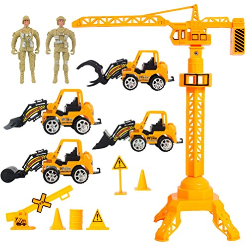 für Kinder 2 People 4 Pack Toys Combo Set Children Puzzle Model Play House Power Pull Back Cars for Toddlers Boys ()