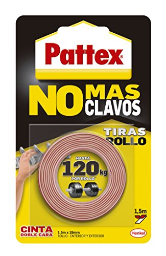 Pattex Rollo Cinta doble cara No más clavos