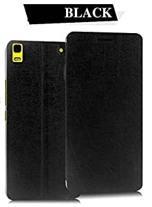 Caseking Flip Case Cover with Vacuum Clip View Stand for Lenovo A7000 & Lenovo K3 Note (Black Color)
