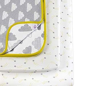 Set di biancheria da letto snuz per culla con disegni di nuvole prima infanzia - Biancheria da letto amazon ...
