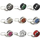 Schlüsselanhänger Felge - Speiche Rad Metall - Anhänger (6er Speiche schwarz)