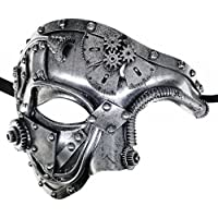 CCUFO Mechanical Steam Punk Phantom Of The Opera Vintage Men Venetian Mask For Masquerade/Party/Ball Prom/Mardi Gras/Wedding/Wall Decoration