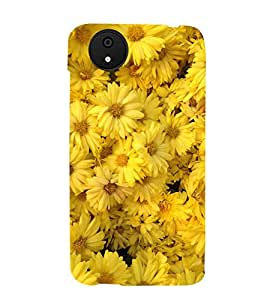 BOOMING MARRIGOLD FLOWERS FIELD IN SUNLIGHT 3D Hard Polycarbonate Designer Back Case Cover for Micromax Android A1::Micromax Canvas A1 AQ4502